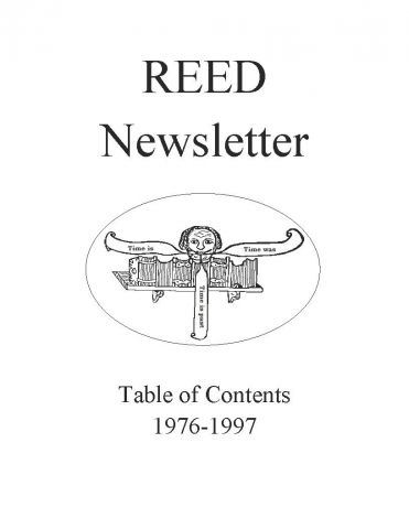 REED Newsletter (1976-1997)